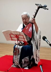 人間国宝 奥村旭翠さんの琵琶演奏